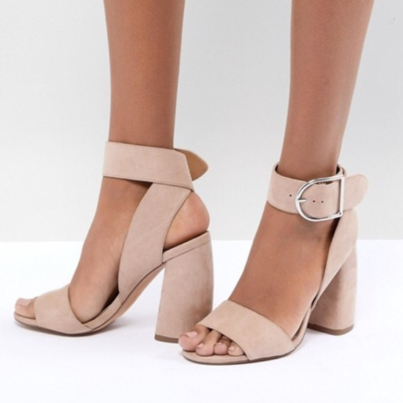 7cc93dd0d71 ASOS Shoes - Asos design hold tight heeled sandals nude